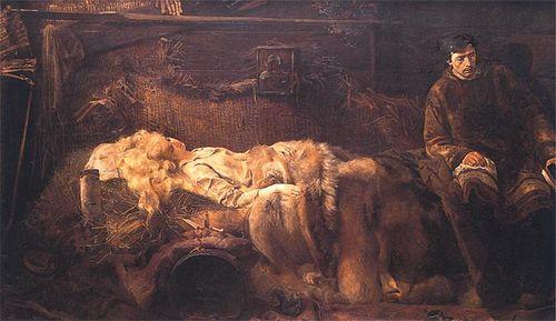 Malczewski Jacek. 1883. Śmierć Ellenai