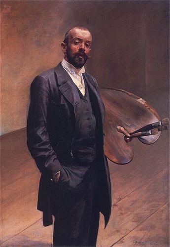 Jacek Malczewski 1892. Autoportret z Paletą