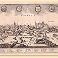 Kraków  Merian, CRACOVIA, z J. L. Gottfrieda, Neuwe archontologia cosmica, Frankfurt 1638 | miedzioryt