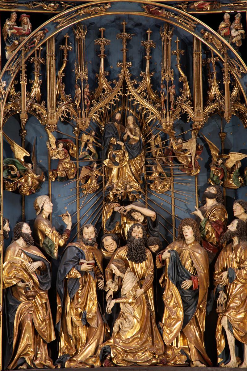 Ołtarz Wita Stwosza Zaśnięcie Marii i  Wniebowzięcie