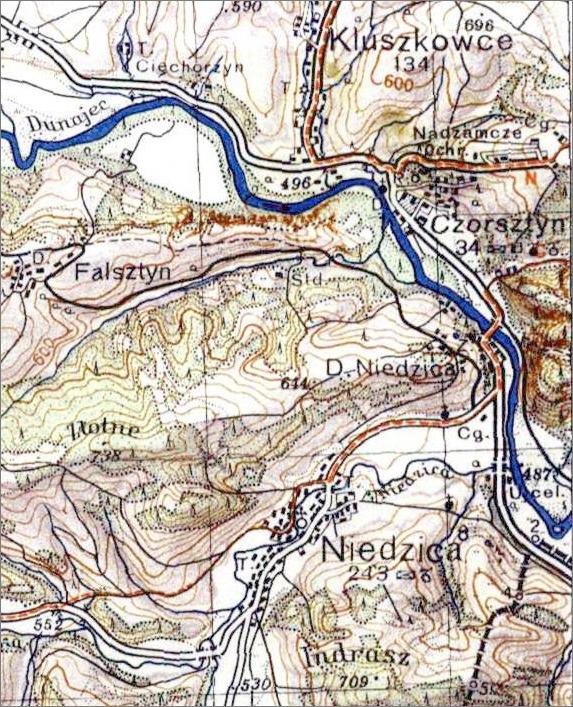 Niedzica Czorsztyn mapa WIG 1:10000 1934