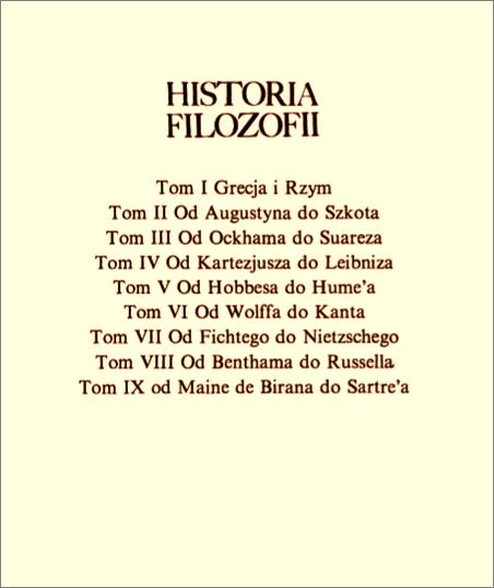 Copleston Historia filozofii tomy 1-9