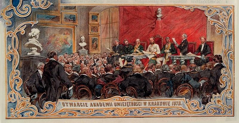Otwarcie Akademii Umiejętności w Krakowie 1873 | cesarz