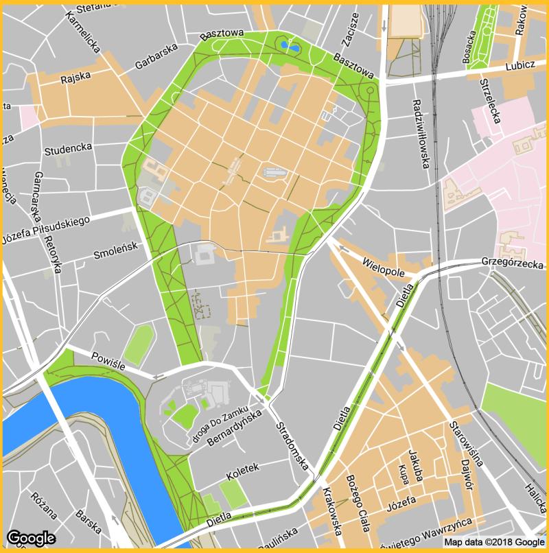 Kraków Google ulice