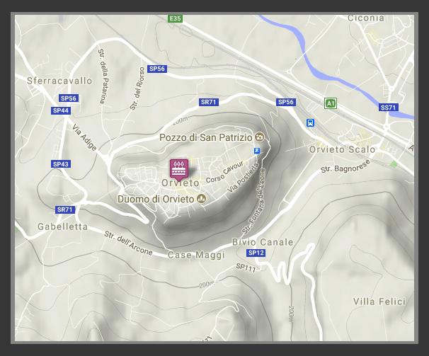 Orvieto mapa terenowa Google