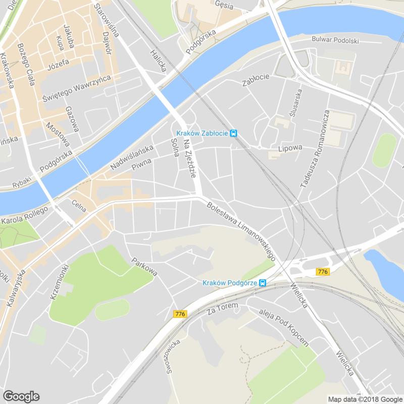 Kraków Google Podgórze ulice